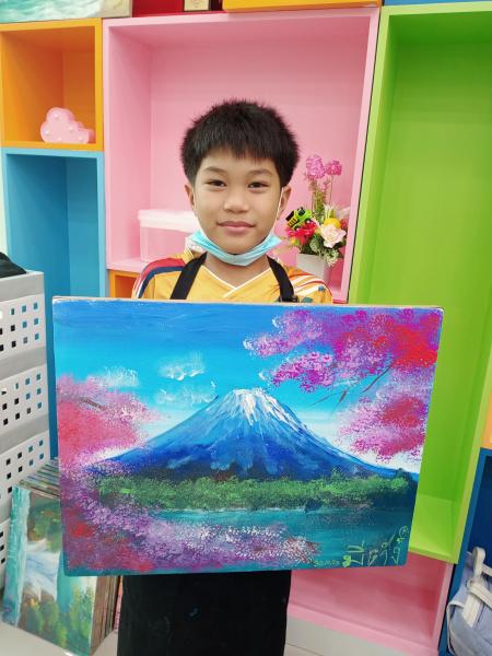 เรียนวาดรูปภูเขาฟูจิ
